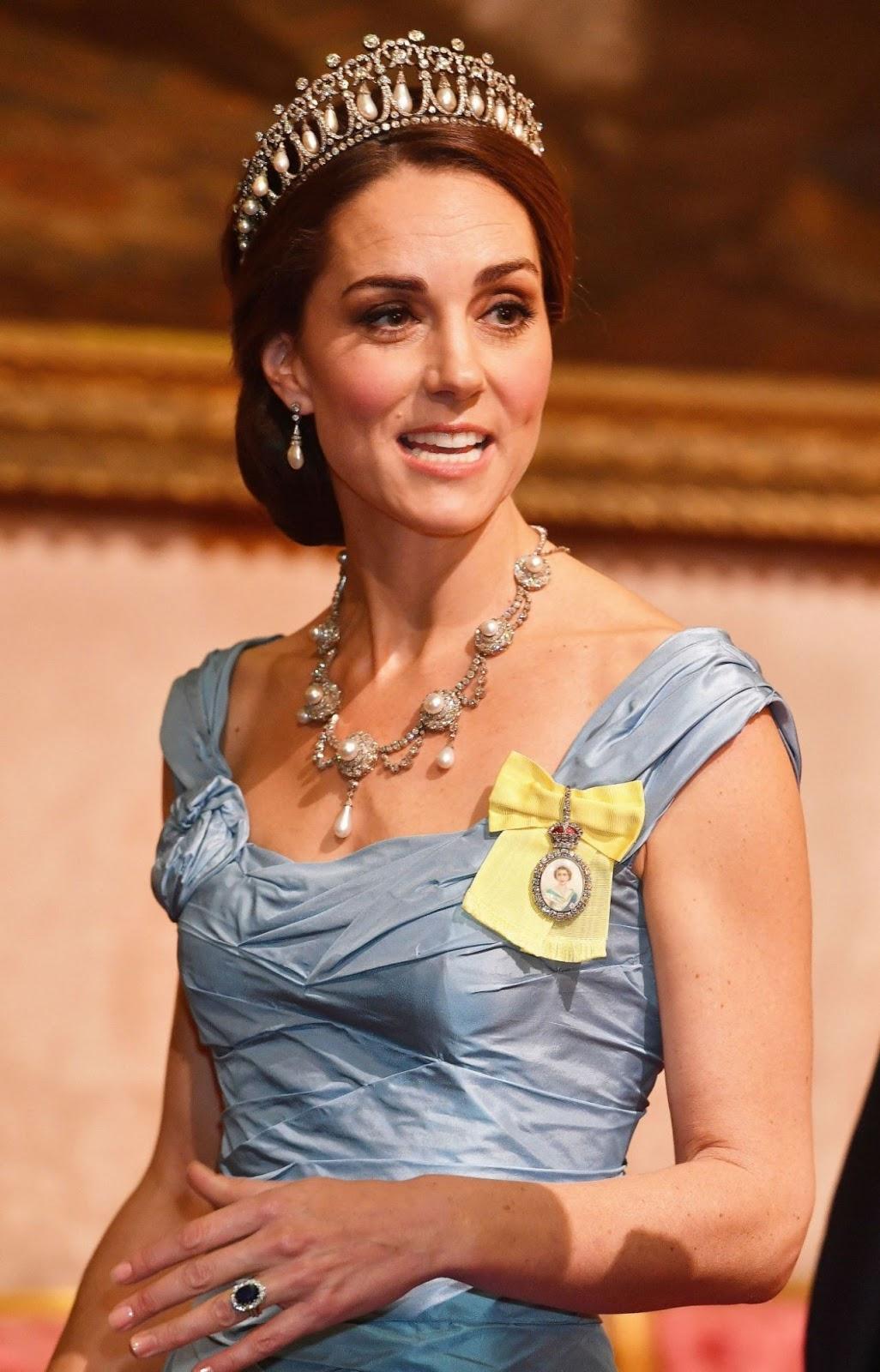Catherine, Duchess of Cambridge Attends the Secretary of