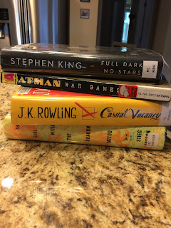 Books my husband and I picked up at the library