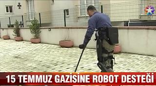 gaziyi yürüten özel robot