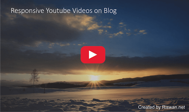 Cara Pasang Video Youtube Full Responsive di Blog