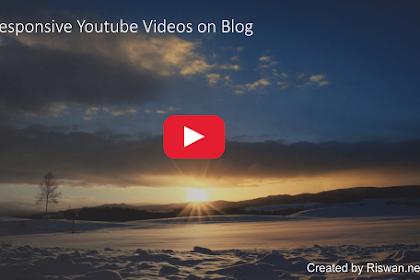 Cara Pasang Video Youtube Full Responsive di Blog