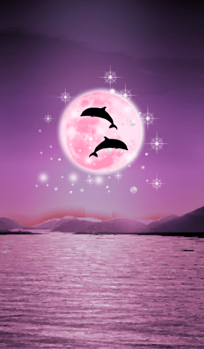 Lucky Strawberry Moon double dolphins 8