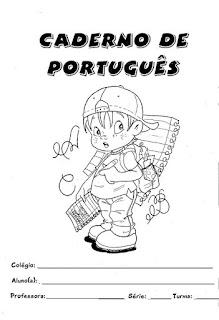 Capa para caderno português