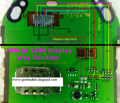 Nokia 1280 Display Ways Jumper LCD Point Jumper  GSMHosters