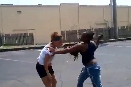 girl fights Black street