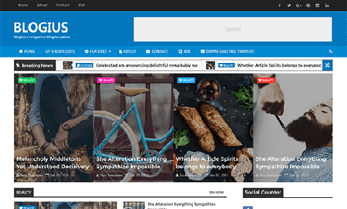 Free Blogius Blogger Template download