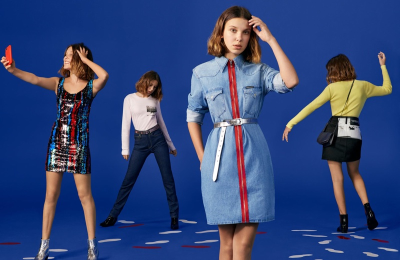 Millie Bobby Brown Gets Festive For The Calvin Klein Holiday 2018 Campaign