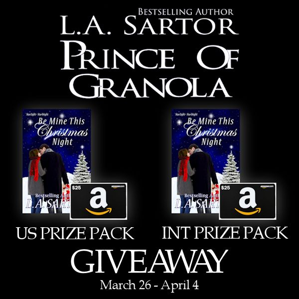 Prince of Granola blog tour giveaway graphic
