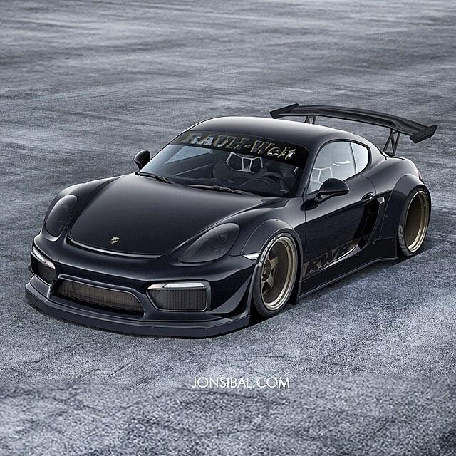 Porsche Cayman: RWB Widebody Porsche Cayman GT4 Is A Mythical Beast