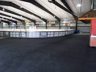 Greatmats rolled rubber hockey ice arena