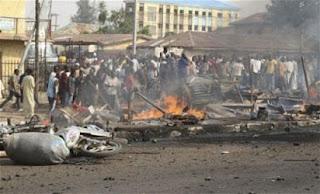 Maiduguri Scores feared dead in multiple suicide bombings in Maiduguri BY NDAHI MARAMA.