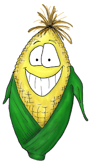 cartoon corn clipart