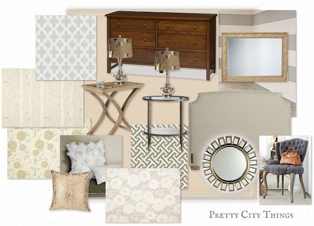 Neutral Bedroom Mood Board
