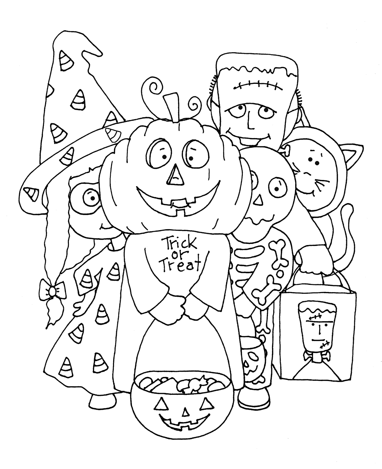 Free Dearie Dolls Digi Stamps: Trick or Treaters