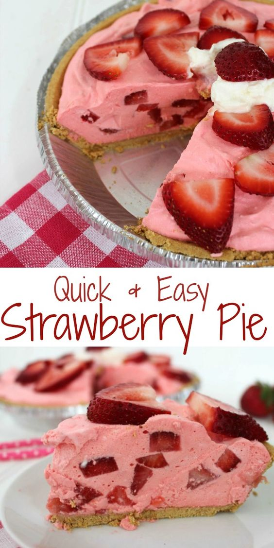 Since warm weather has arrived you may be needing this Quick & Easy Strawberry Pie Recipe. We are constantly looking for quick and easy desserts to throw together for grill outs. Spring and summer always have me anxious for great strawberry desserts.