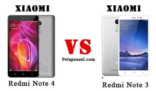 Perbandingan Xiaomi Redmi Note 4 dan 3