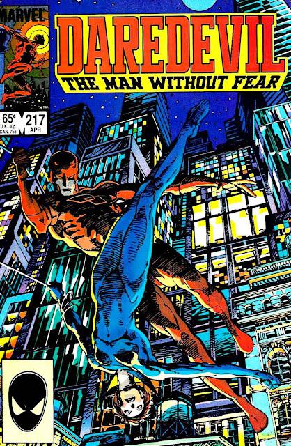 Daredevil v1 #217 marvel comic book cover art by Barry Windsor Smith