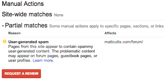 Official Google Webmaster Central Blog: View manual webspam actions in Webmaster Tools