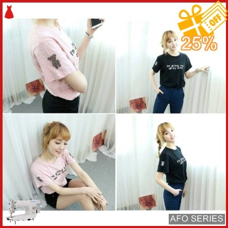 AFO564 Model Fashion My Love Tee Modis Murah BMGShop