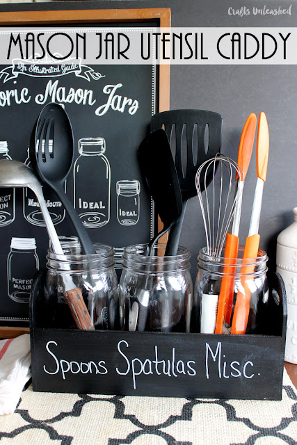 mason jar kitchen utensil caddy