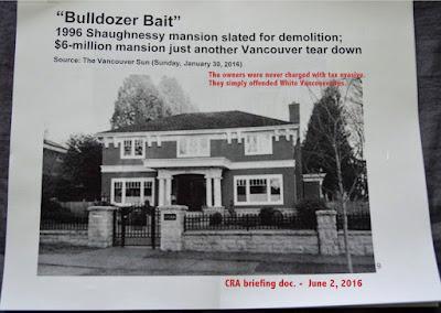Bulldozer Bait - jealous headline in Vancouver SUN - 2016