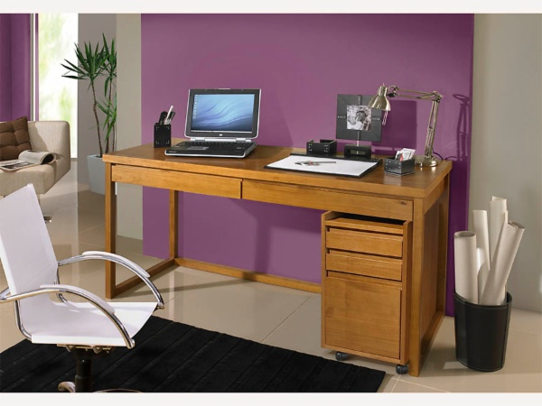 Escrivaninha com gaveteiro