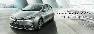 Spesifikasi dan harga Toyota Corolla Altis 2018