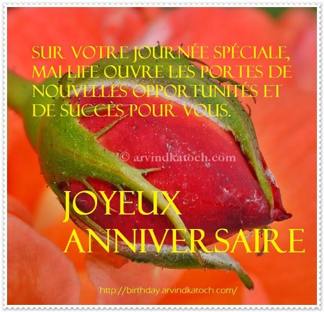 French, Birthday Card, votre, journée, spéciale, Cartes d'anniversaire