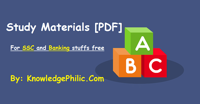 download English medium study materials for SSC and Bank PDF download free