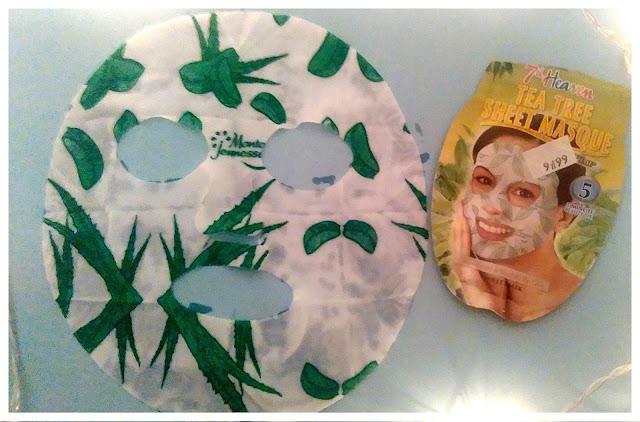 Oczyszczająca maska do twarzy z miętą i drzewem herbacianym (Tea Tree Sheet Masque), 7th Heaven- recenzja #33