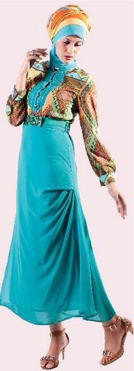 Contoh Baju Batik Muslim Modern untuk Wanita Remaja