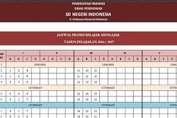 Jadwal Pelajaran SD, SMP, dan SMA Tinggal Edit dalam Bentuk Excel