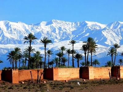 Marrakech View of Atlas Mountains