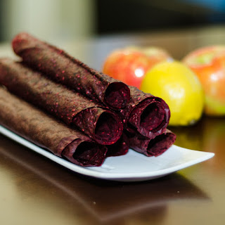 Rolls of Homemade Fruit Leather
