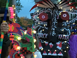 Recycle Masks that are Spooktakular by graffiti artist Dan Fenlon