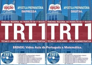 Apostila TRT RJ 2018: Técnico Judiciário (Admin)