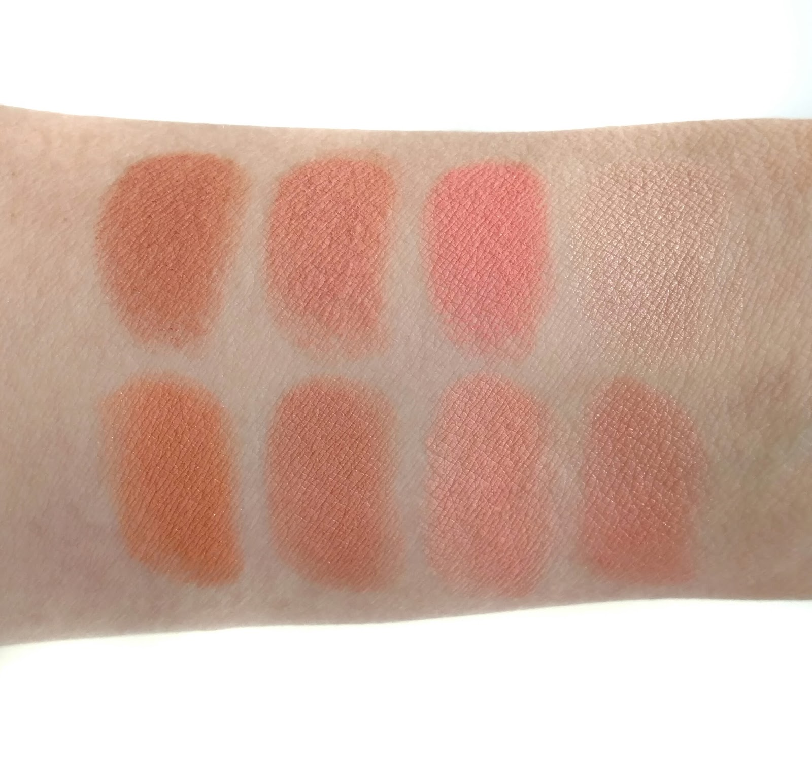 makeup revolution blush palette hot spice swatches