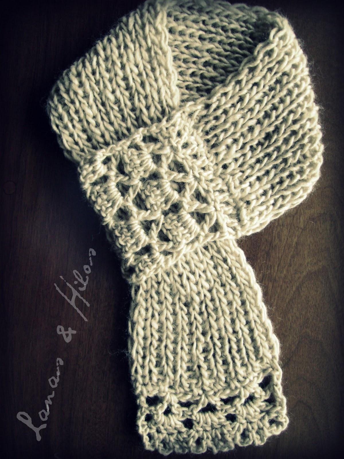 lanas hilos crossed short scarf. Black Bedroom Furniture Sets. Home Design Ideas
