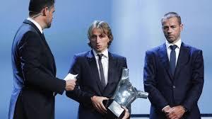 Luka Modric get UEFA player of year