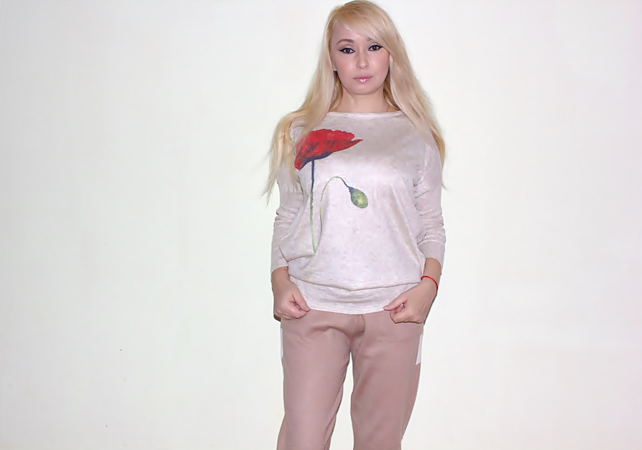 TwinkleDeals Haul: Flower Print Dolman Knitwear. Пуловер с цветочным принтом / обзор, отзывы