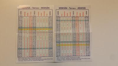 Adana Mersin Arası Tren Sefer Saatleri Fiyatları