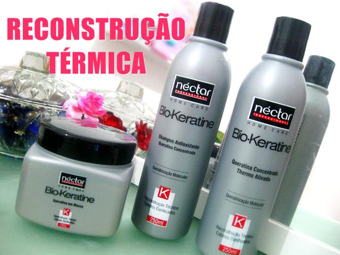 Reconstrução Térmica Bio-Keratine Néctar do Brasil