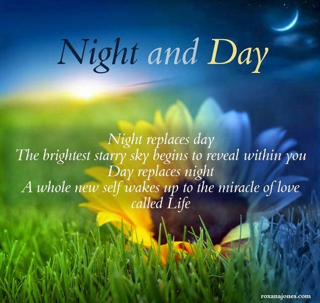 Night And Day Night Replace Day The Brightness Starry Sky Begins To