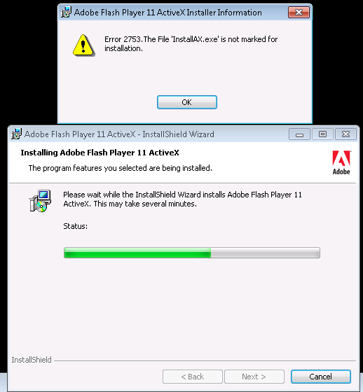 if you experience something like unable to deploy adobe flashfrom control panel, programs and features there were now signs for any adobe flash player installation