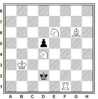 Problema de mate en 3 compuesto por André Cheron (AE-29, 1958)