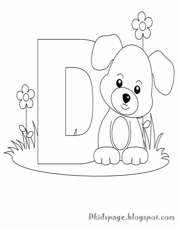 kids page d is for dog worksheet alphabet letters coloring worksheet. Black Bedroom Furniture Sets. Home Design Ideas