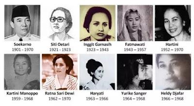 9 Istri Soekarno, Kisah Cinta Sang Pembuka Gerbang Kemerdekaan