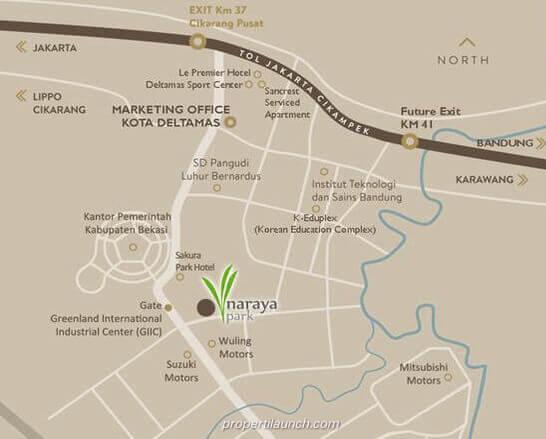 Peta Lokasi Naraya Park