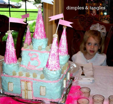 Whimsical Winter ONEderland Birthday Cake 3 Years Old Princess Castle Love Her Expression In This One Looks Like Shes Not Too