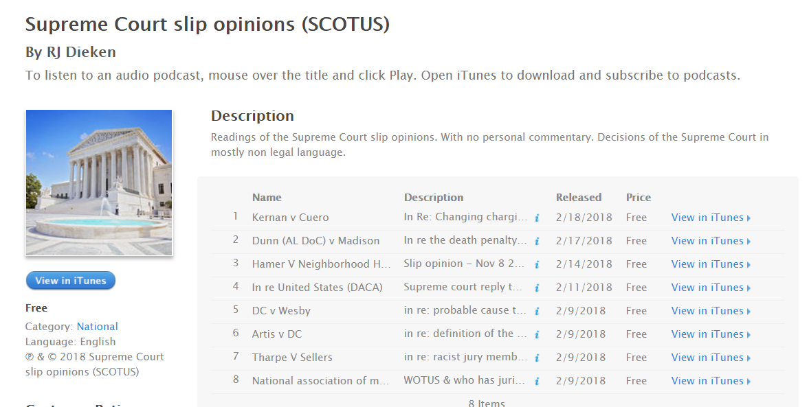 Supreme Court slip opinions (SCOTUS) - Free at iTunes